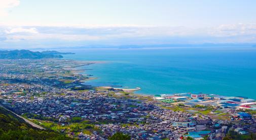 四国中央市の海岸