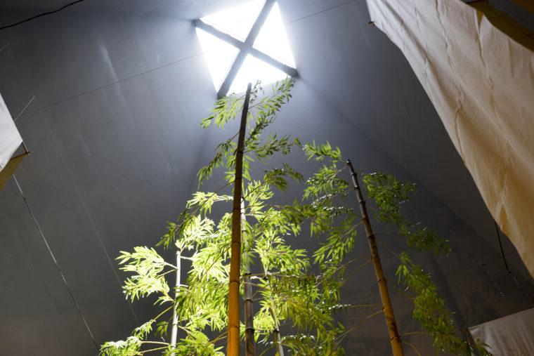 霧の森茶フェの塔内部