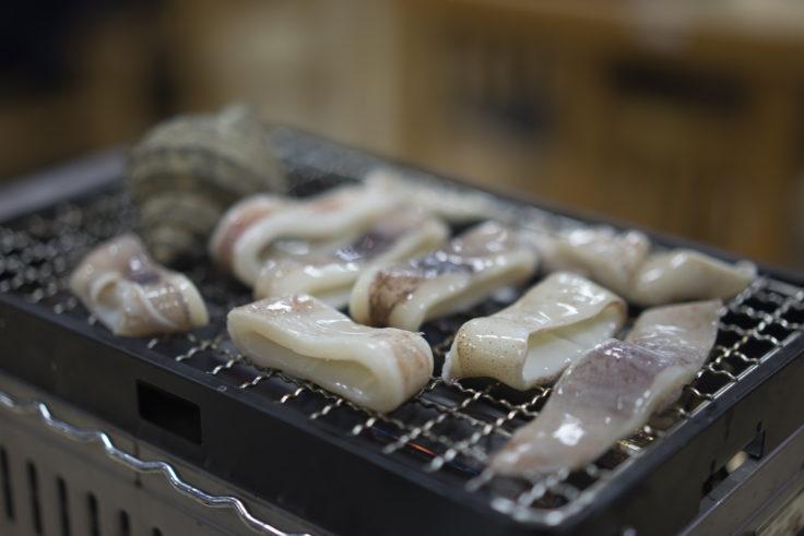 徳島県漁協食堂うずしおのイカ焼き