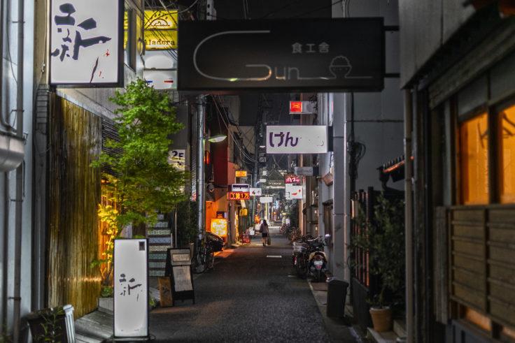 高松市夜の路地裏