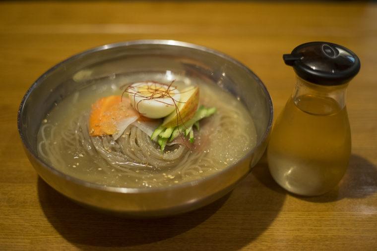 韓流ダイニング東大門市場の冷麺ネンミョン