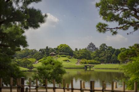 慈眼堂から見た岡山城
