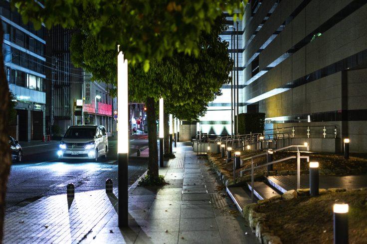 夜の高松市美術館