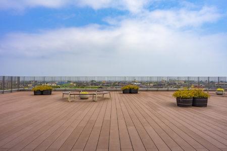 東かがわ市立図書館屋上から見た瀬戸内海方面