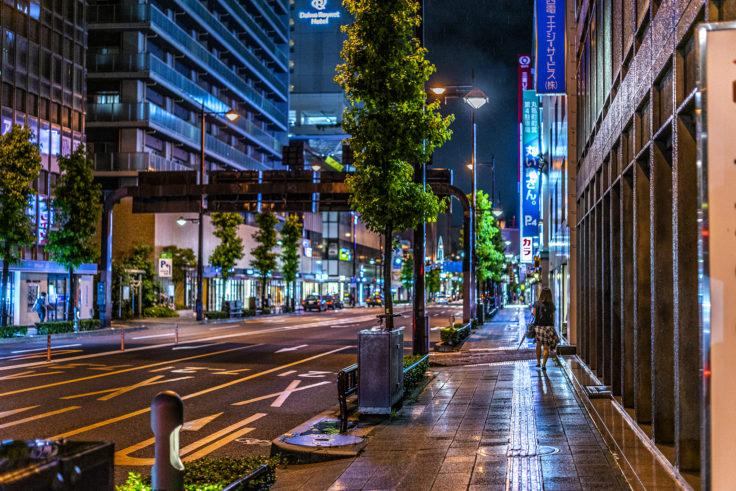 雨の夜ストリートスナップ