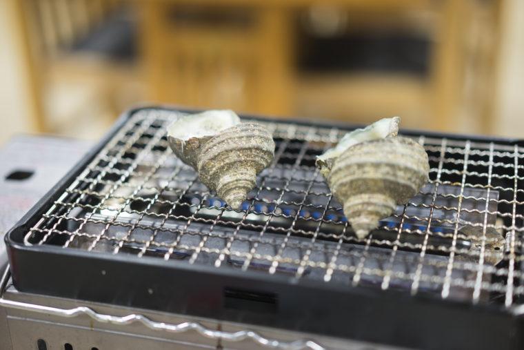 徳島県漁協食堂うずしおのサザエ