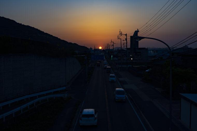 坂出石の夕焼け2