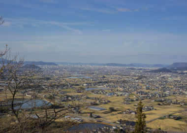 嶽山からのサンポート高松方面