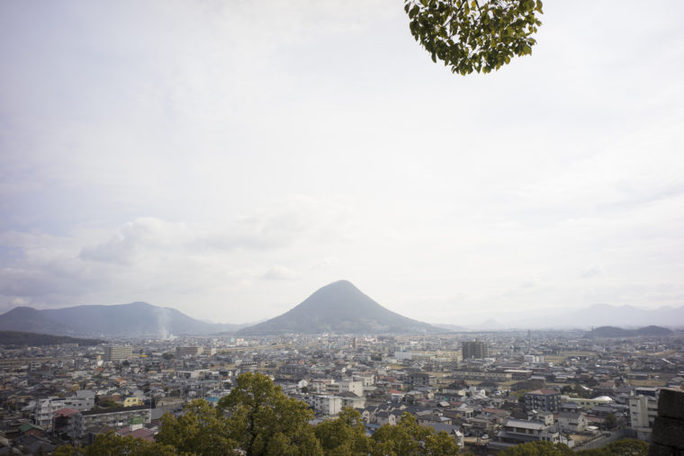 丸亀城からの飯野山