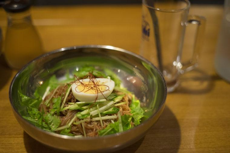 韓流ダイニング東大門市場の冷麺ビビンネンミョン