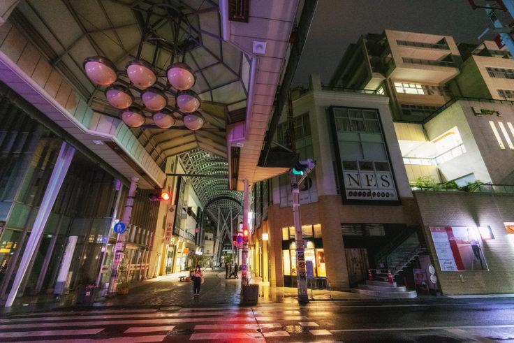 雨の丸亀町