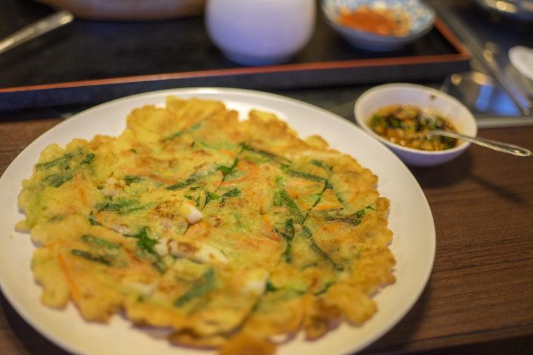 韓国家庭料理サランの海鮮チヂミ