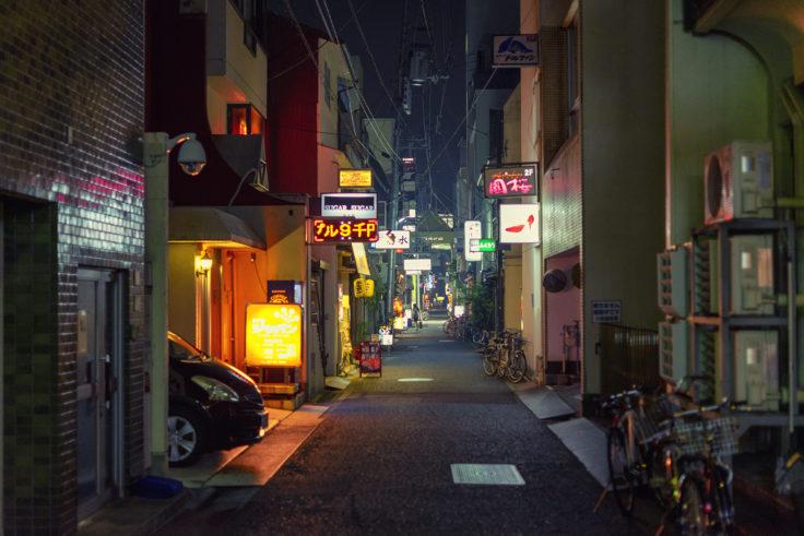 高松市夜の路地裏2