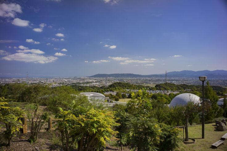 あすたむランド風車の丘からの眺め