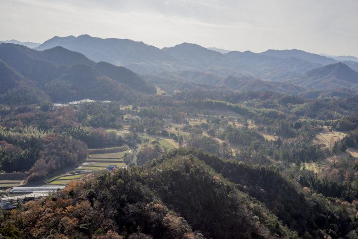 嶽山からのゴルフ場