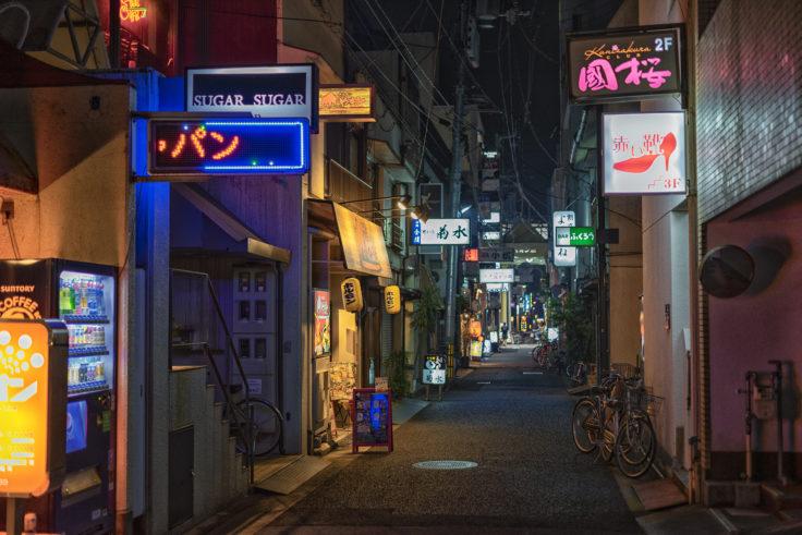 高松市夜の路地裏3