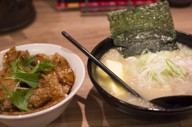 豚丼&塩バターラーメン