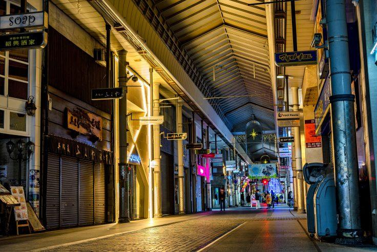 高松市のアーケード商店街