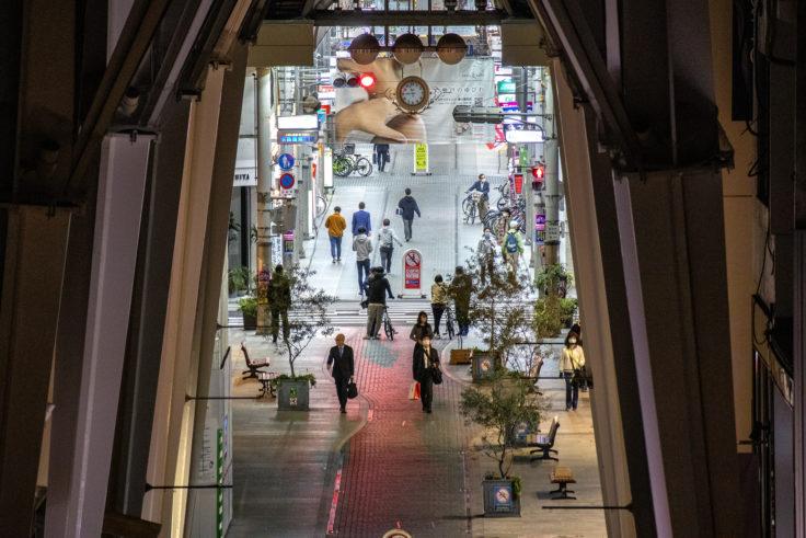 高松市アーケード商店街俯瞰撮影