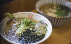 麺喰屋澤のホウボウと焼きカマスの中華そば牡蠣オイル添え