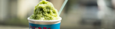 キャベツプラザ友の抹茶かき氷
