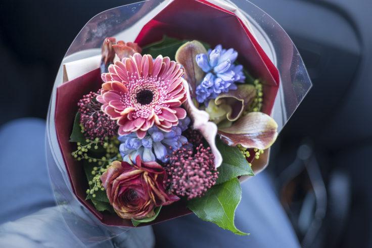 花屋さんお任せ花束