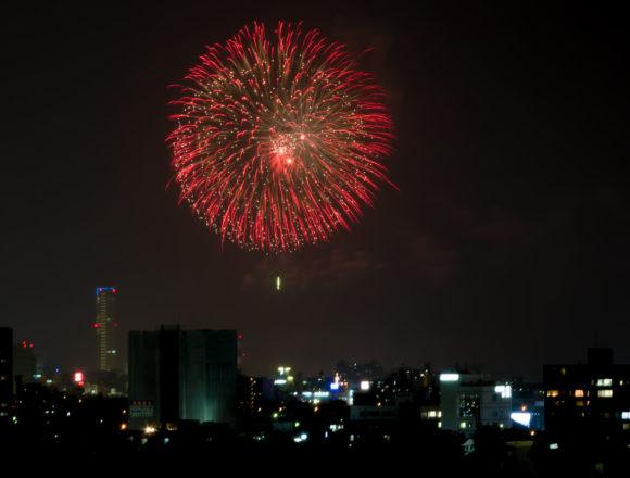 高松祭りの花火