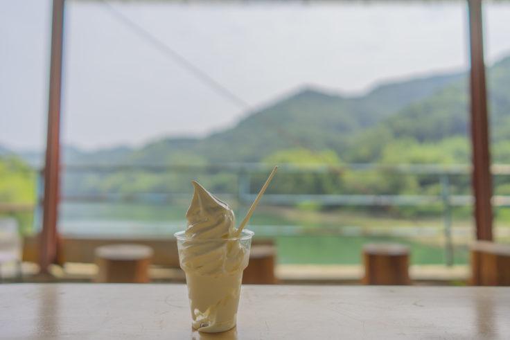 ふじかわ牧場のソフトクリーム