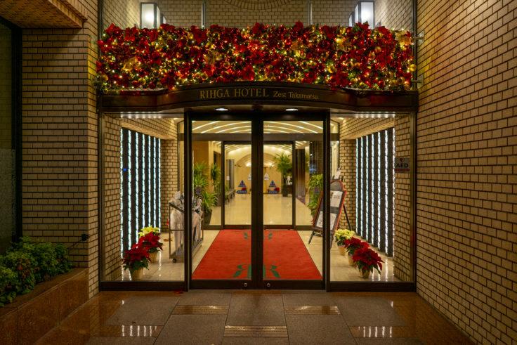 ホテルのクリスマス