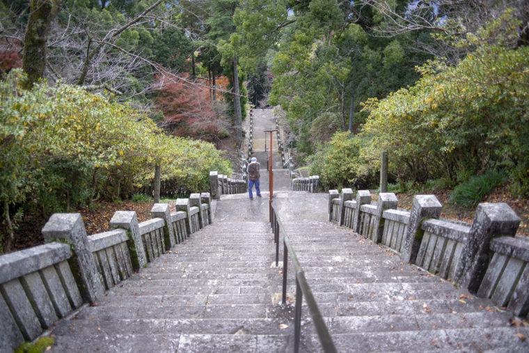 箸蔵寺の階段を見下ろす