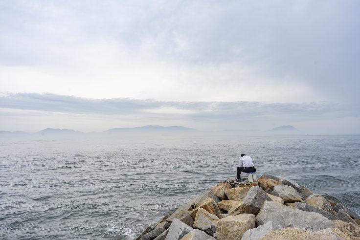 高松市庵治町から見た瀬戸内海2