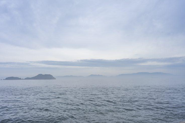 高松市庵治町から見た瀬戸内海