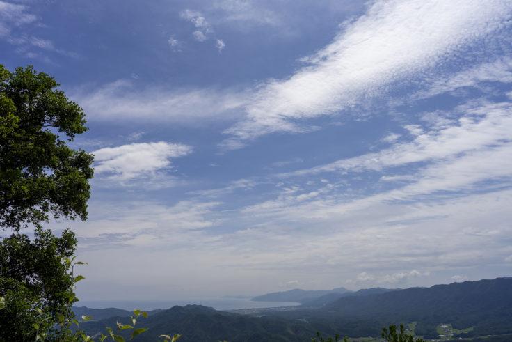 虎丸山頂上からの景色