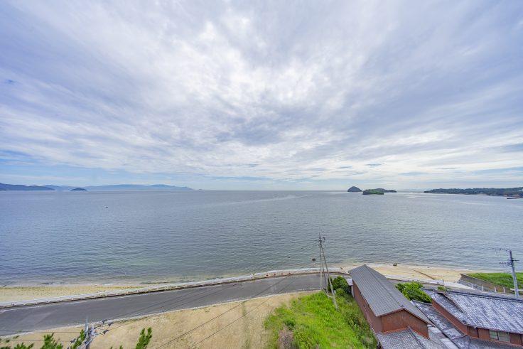 大川オアシス屋上から見える瀬戸内海