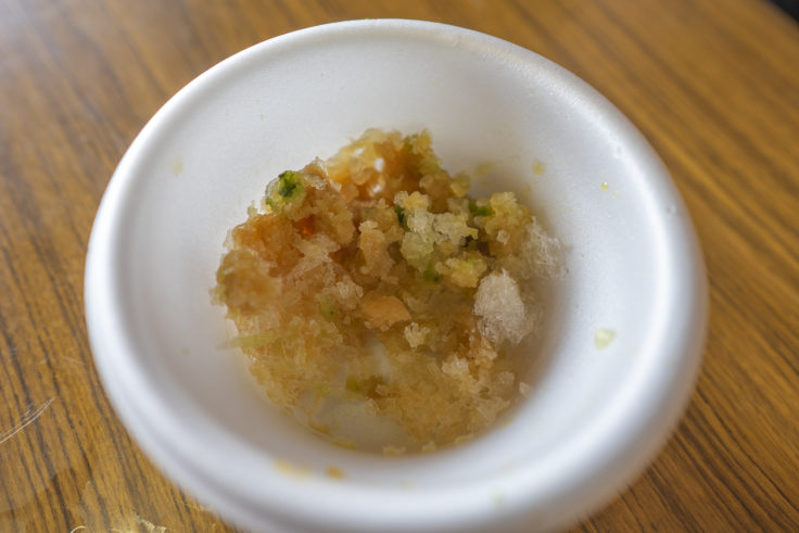 讃州井筒屋敷和三盆黒みつかき氷2
