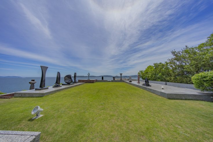 流政之美術館天台の庭