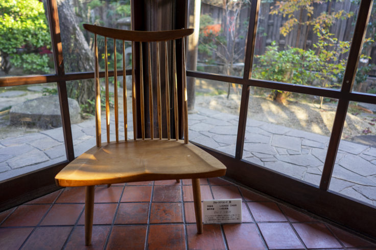 かめびし屋のジョージ・ナカシマ氏の椅子