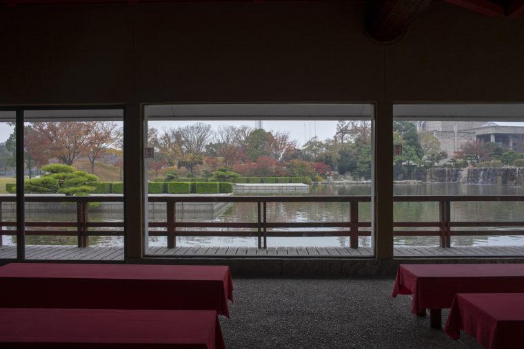刻月亭から見た甲之池