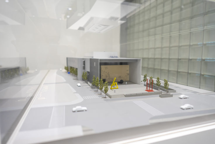 猪熊弦一郎現代美術館の模型