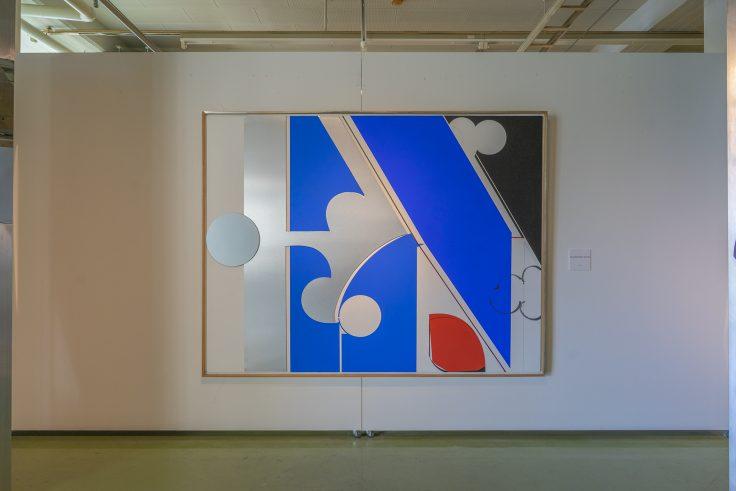 川島猛「blue,white,black and red」1993