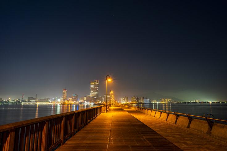 せとしるべから見たサンポートの夜景