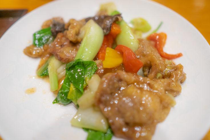 弘の牛肉とチンゲン菜の炒め