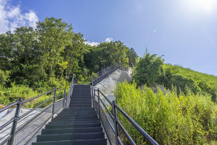 椛川ダム展望広場から山頂広場へ5