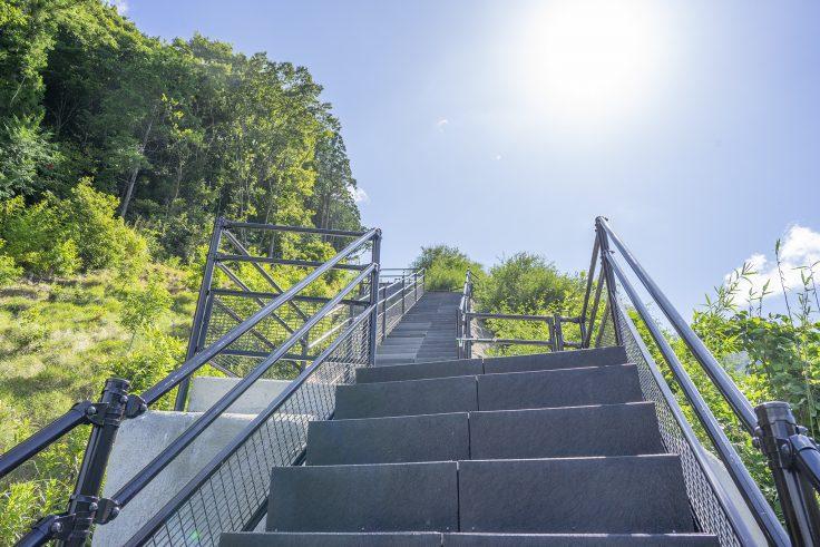 椛川ダム展望広場から山頂広場へ6