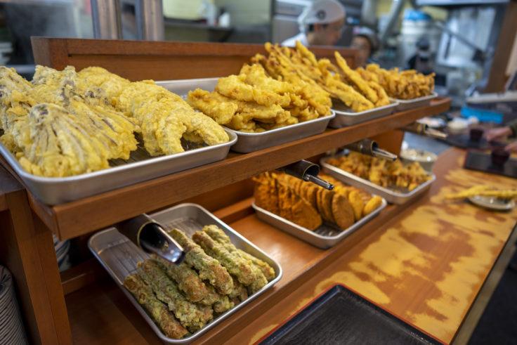 麺処綿谷高松店の天ぷら