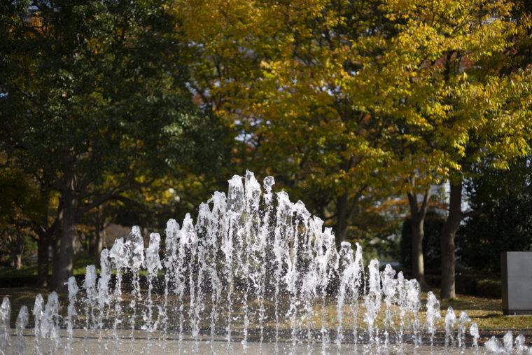 瀬戸大橋記念公園の噴水アップ
