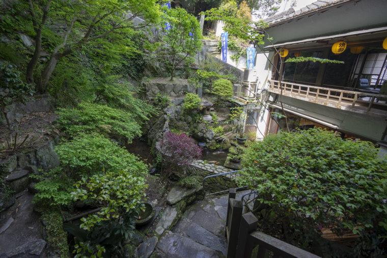 和田の屋本店の庭