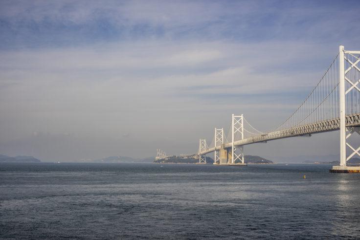 瀬戸大橋記念公園からの瀬戸大橋