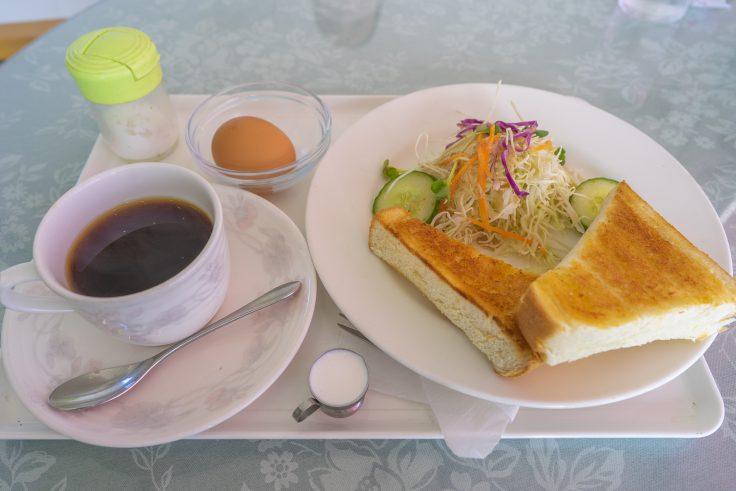 喫茶サフランのトーストモーニング