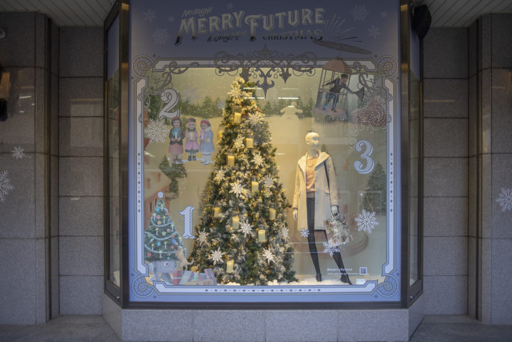 高松三越のクリスマスディスプレー